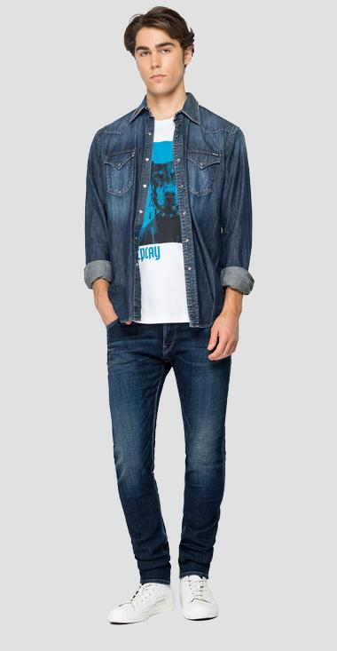 Denim shirt with pockets - Replay M4023_000_26C-740_007_1