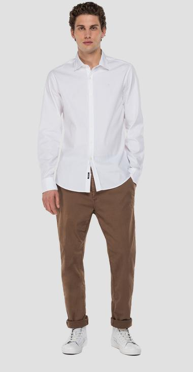 Solid-coloured cotton shirt - Replay M4025_000_52344_001_1