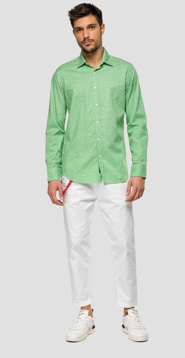Cotton shirt with all-over print - Replay M4025_000_71968_010_1