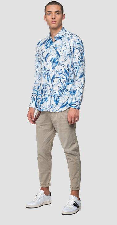 Foliage slub cotton shirt - Replay M4025_000_71974_010_1
