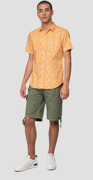 Short-sleeved floral shirt - Replay M4027_000_71984_010_1