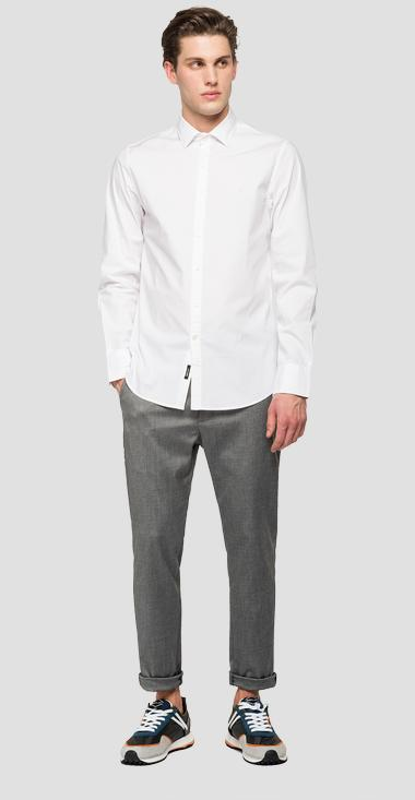 Spread collar shirt - Replay M4028_000_80279A_001_1