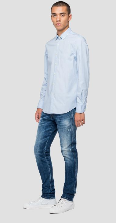 Poplin cotton shirt - Replay M4028_000_80279A_905_1