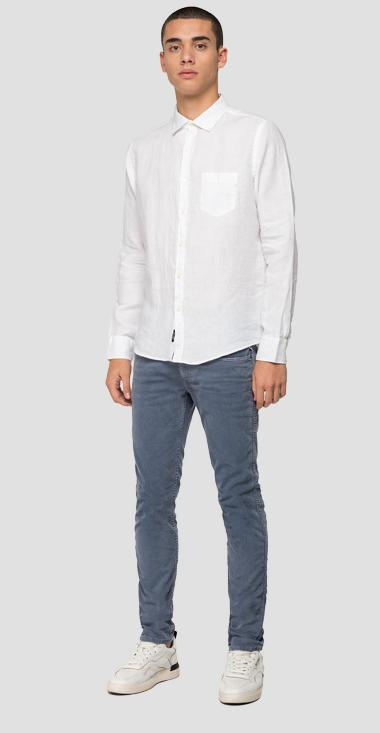 Linen shirt with pocket - Replay M4030_000_81388N_001_1