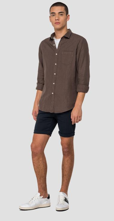 Linen shirt with pocket - Replay M4030_000_81388N_123_1
