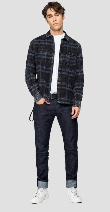 Checked cotton shirt - Replay M4032R_000_52308_010_1