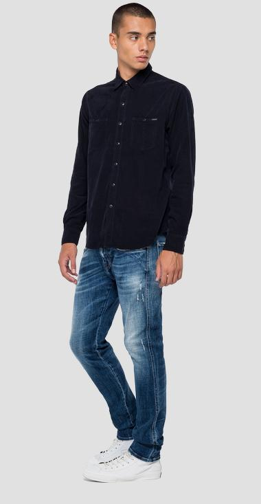 Corduroy velvet shirt - Replay M4032_000_83944G_498_1