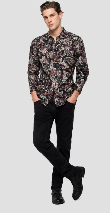 Shirt with paisley print - Replay M4038_000_72166_010_1