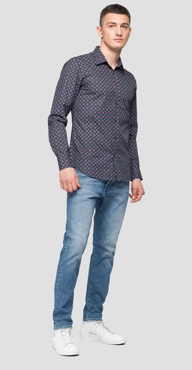 Shirt with all-over floral print - Replay M4040_000_72142_010_1