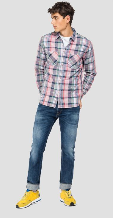 Checked shirt in cotton - Replay M4046_000_52400_010_1