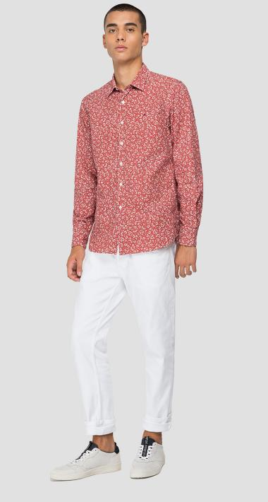 Shirt in printed cotton - Replay M4049_000_72234_010_1