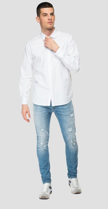 Cotton shirt with pocket - Replay M4052_000_84008G_001_1