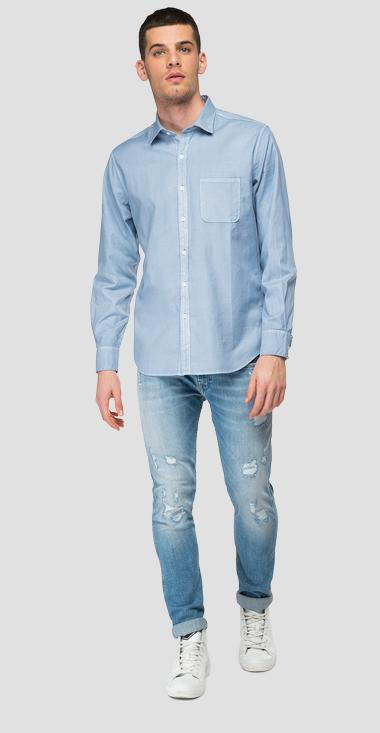 Cotton shirt with pocket - Replay M4052_000_84008G_781_1