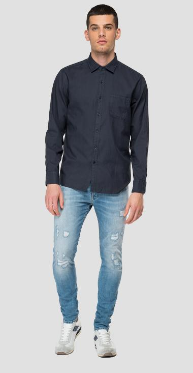 Cotton shirt with pocket - Replay M4052_000_84008G_890_1