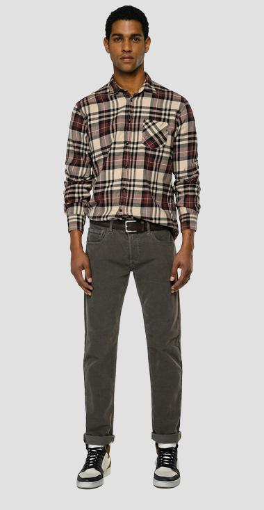 Checked light flannel shirt - Replay M4053T_000_52434_010_1