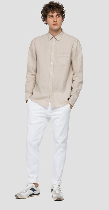Linen shirt with pocket - Replay M4053_000_81388N_624_1
