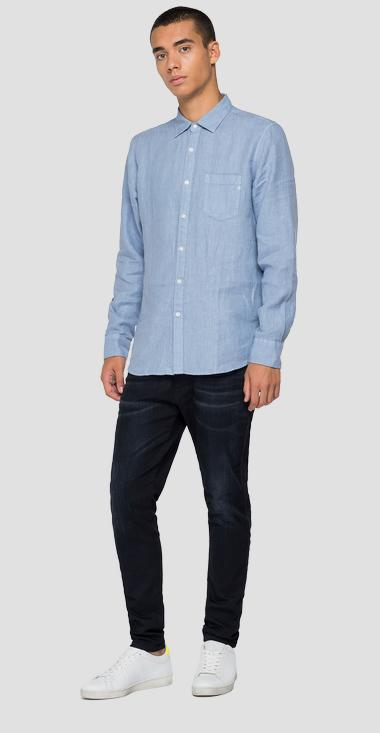 Linen shirt with pocket - Replay M4053_000_81388N_781_1