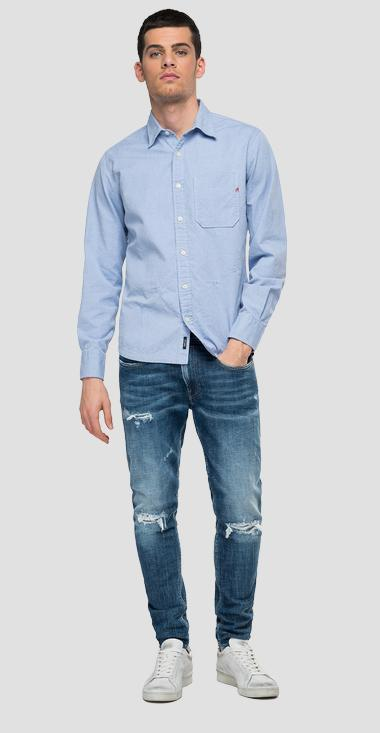 shirt in oxford cotton Aged 10 years - Replay M4054_000_52454_010_1