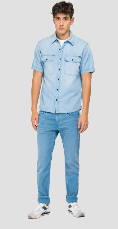 Denim shirt with pockets - Replay M4061_000_200-86A_010_1