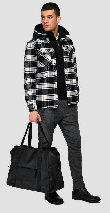 Checked flannel shirt with pockets - Replay M4067_000_52438_010_1