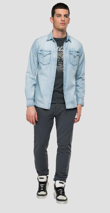 Denim shirt with pockets Aged 10 years - Replay M4860B_000_26C-96A_010_1