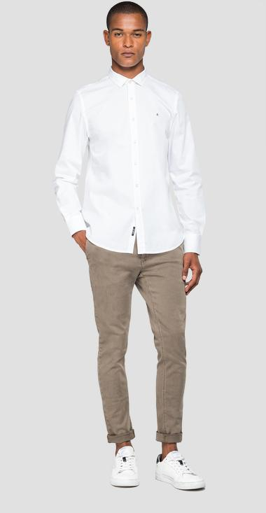 Cotton poplin shirt - Replay M4941D_000_80279A_001_1