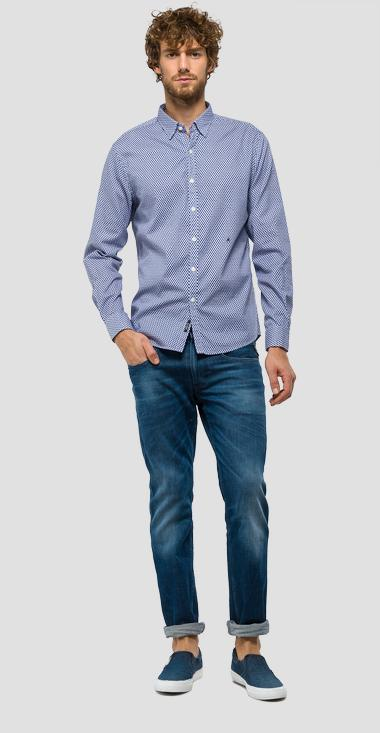 All-over print cotton shirt - Replay M4947_000_71202_010_1