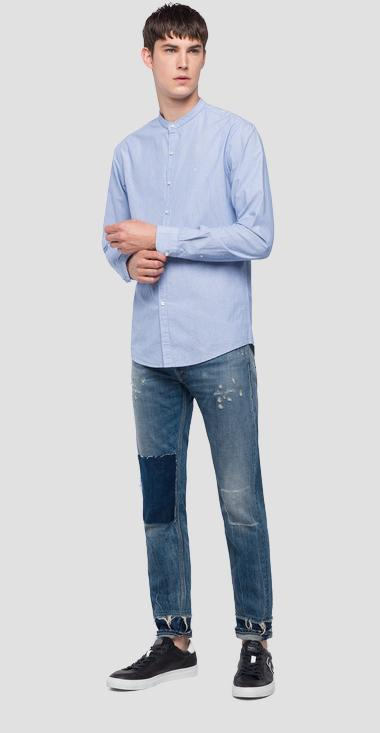 Mandarin collar shirt - Replay M4948A_000_50565_010_1