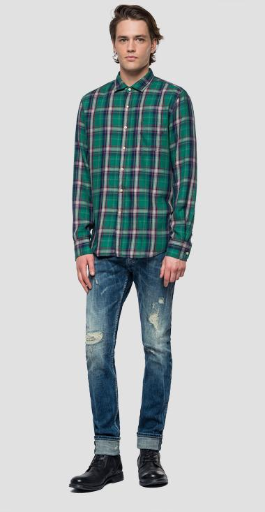 Shirt with checked pattern - Replay M4953P_000_52130_010_1