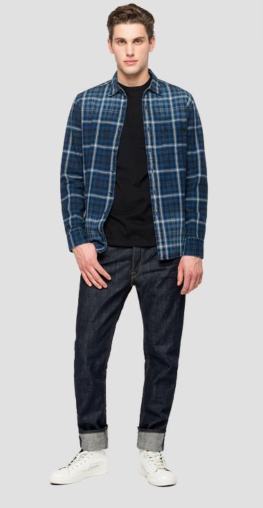 Cotton checked shirt - Replay M4953P_000_52304_010_1