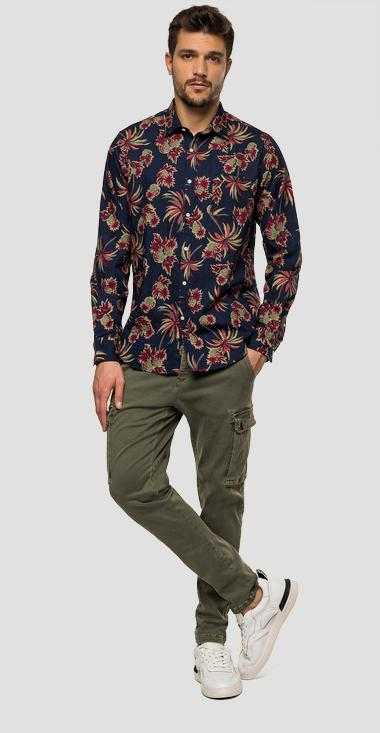 Floral jaquard shirt - Replay M4953P_000_71960_010_1