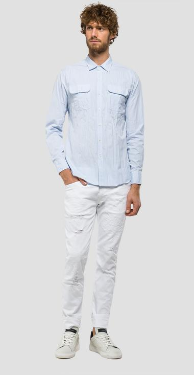 Cotton shirt with chest pockets - Replay M4954_000_51896_020_1