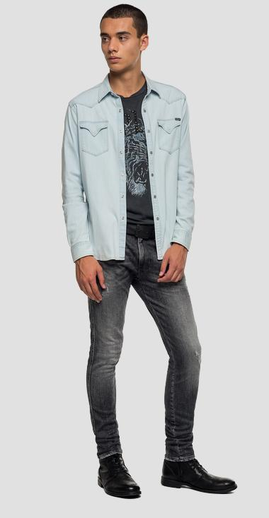 Denim shirt with pockets - Replay M4960_000_165-618_011_1