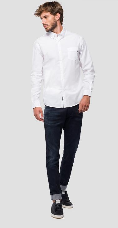Classic shirt with pocket - Replay M4972B_000_83214_001_1