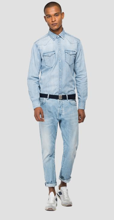 Shirt in Aged denim - Replay M4981_000_26C-88A_010_1