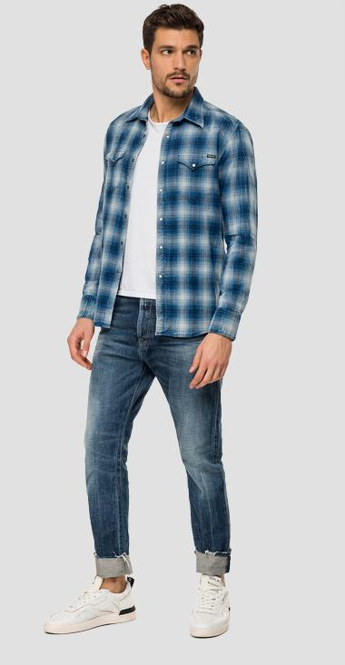 Checked shirt in dobby cotton - Replay M4981_000_52228_010_1