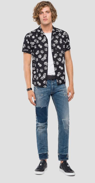 Short-sleeved shirt with print - Replay M4985_000_71664_010_1
