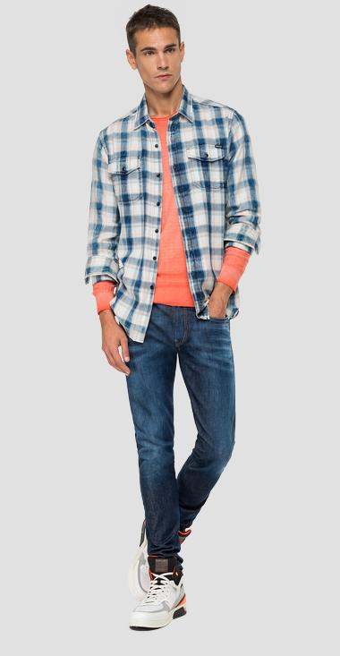 Cotton shirt with checked print - Replay M4987_000_52294_010_1