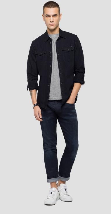 Camicia in denim nero - Replay M4998_000_154-411_098_1