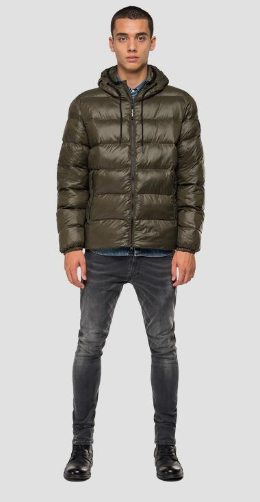 Padded bomber jacket with hood - Replay M8003_000_83408_335_1