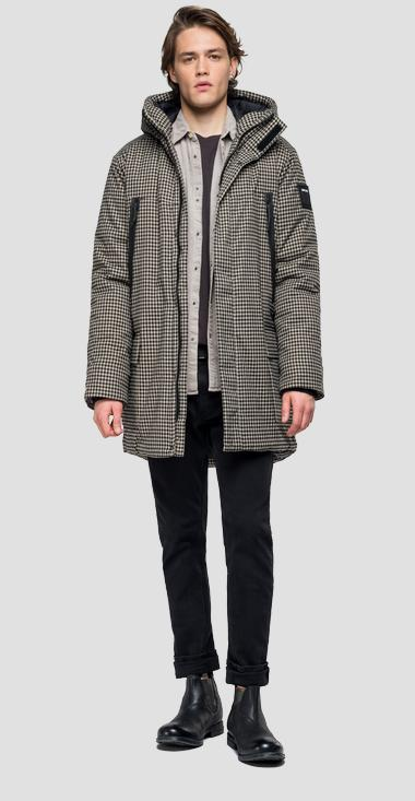 Padded checked parka - Replay M8015_000_52140_010_1