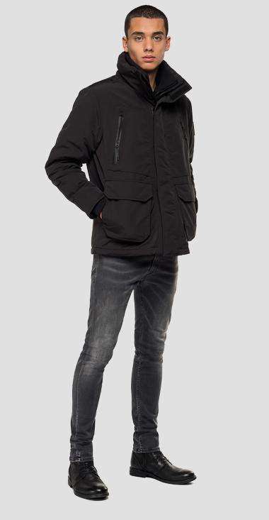 Bomber jacket with double zipper - Replay M8016_000_83422_098_1