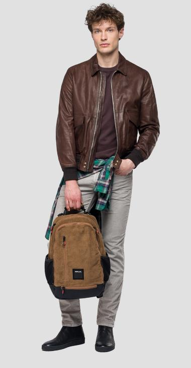 Leather jacket with zipper - Replay M8028_000_83056_035_1