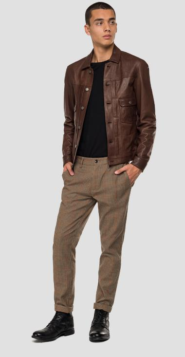 Leather jacket with buttons - Replay M8029_000_83056_035_1