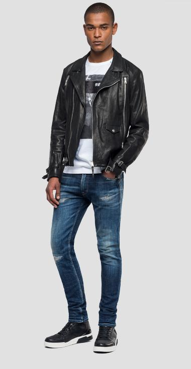 Biker leather jacket - Replay M8030_000_83060_010_1