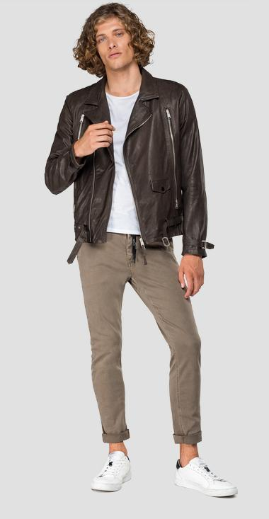 Biker leather jacket - Replay M8030_000_83060_035_1