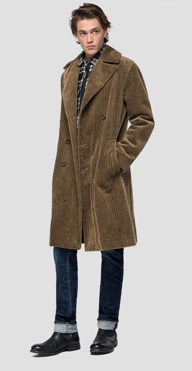 Ribbed classic coat - Replay M8041_000_83530_326_1