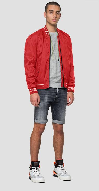 Replay bomber jacket in nylon with pockets - Replay M8047_000_83580_154_1
