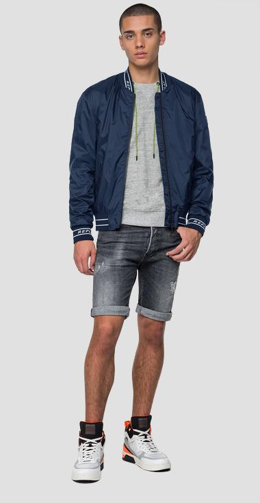 Replay bomber jacket in nylon with pockets - Replay M8047_000_83580_880_1
