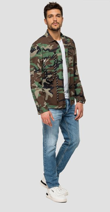 Camouflage shirt with cord - Replay M8056_000_72038_010_1